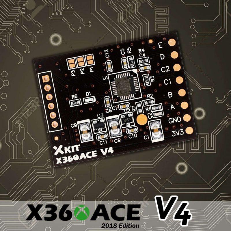 X360 ACE X360Ace V4 Glitcher Board RGH For Xbox360 Slim Corona and Trinity  2018 Version DHL FEDEX EMS FREE SHIPPING