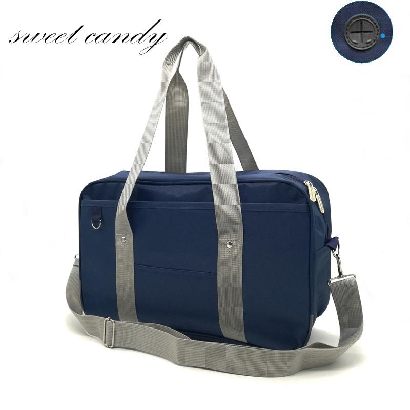 42c56f860f56 Japanese School Handbags Oxford Travel Bag Women Shoulder Satchel Bags  Solid Color High School Students Bookbags Messenger Bag
