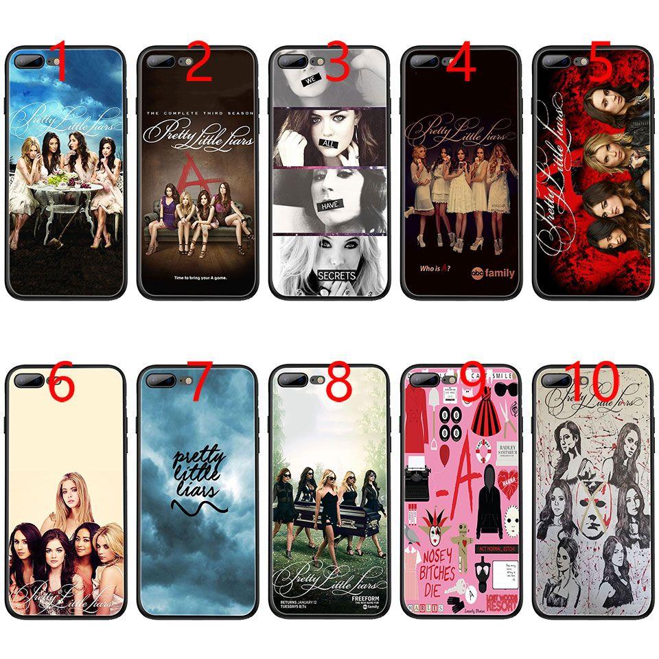 brand new e443b ab29f Pretty Little Liars Soft Black TPU Phone Case for iPhone XS Max XR 6 6s 7 8  Plus 5 5s SE Cover