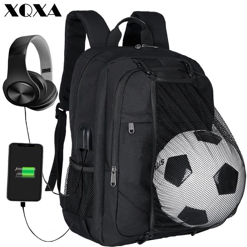 28aff22ba4d Laptop Mochila Homens com Bola Net Faculdade Escola Mochila Saco Mochila  Preta para o Menino Meninas com Porta USB de Carregamento Casuais Daypack