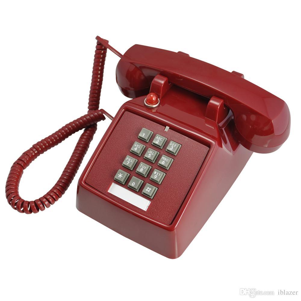 Old Fashioned Retro Antique Landline Phone Home Desk Vintage Corded