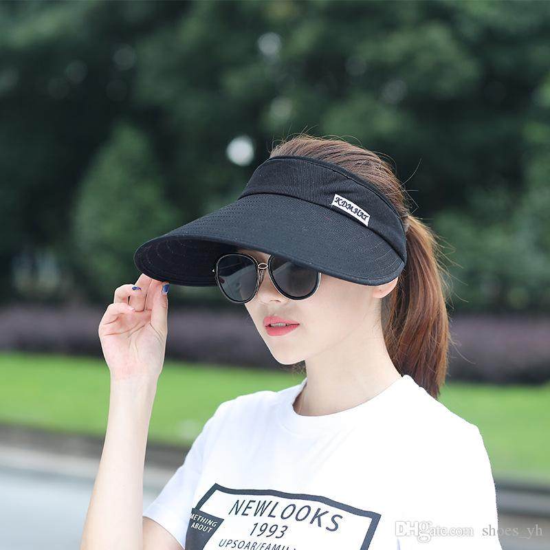 69b61837c61 2019 Top 2018 Spring Summer Caps Men S Joggers Leisure Sun Hat Outdoor  Tennis Sports Daytime Sun Visor Adjustable Wholesale From Shoes yh