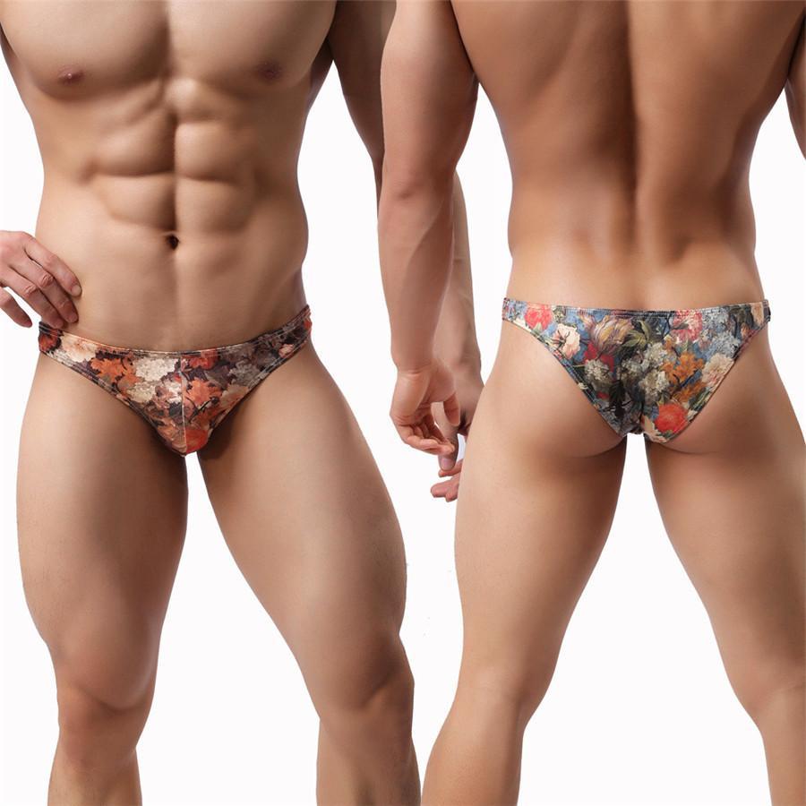 01e71e187a6648 3 Stücke Sexy Männer Pouch Briefs Mode Neue 2018 Gedruckt Sexy Männer Coole  Unterwäsche Kurze Homosexuell Slip M / L / XL