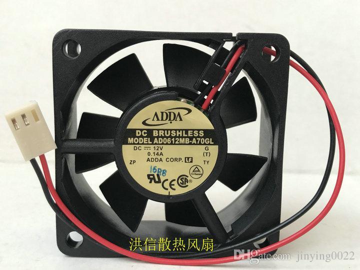 Brand new original ADDA 6025 AD0612MB-A70GL DC12V 0.14A 2-axis axial flow fan