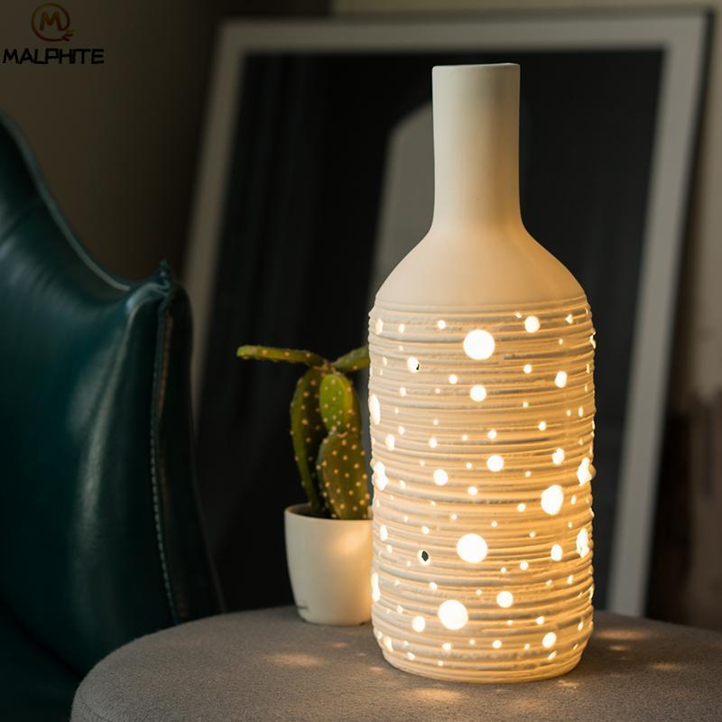 2019 Novel White Porcelain Table Lamp For Living Room Ceramic Table ...