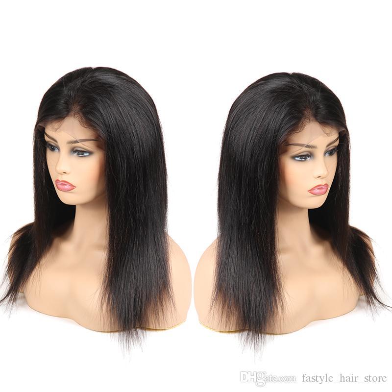 Virgin Brazilian Indian Malaysian Human Hair Wigs Straight Full Lace Human  Hair Wigs 360 Full Lace Wigs For Black Women Hot Sale Brazilian Wigs Human  Hair ... 69f4a7e3a2