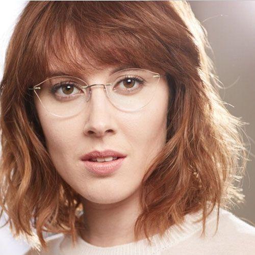 73940e15abe B 2017 Women Cat Eye Glasses Frame Myopia Rimless Eyeglasses Ultralight Eye  Wear Metal Gafas Oculos De Grau Feminino From Huteng