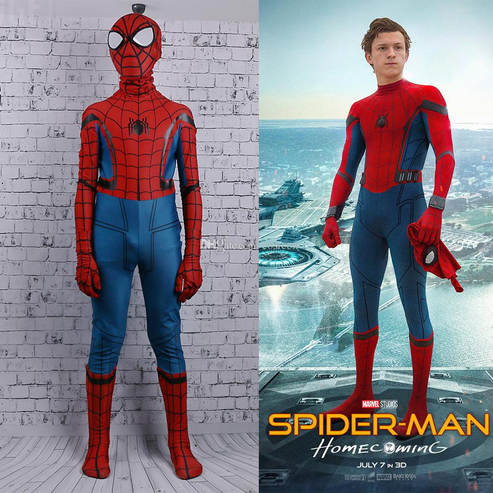 Spider Man Halloween Costume Adults.Red And Blue Spider Man Spiderman Baby Girl 3d Suit Spider Man Costumes Adults Children Spider Man Cosplay Jumpsuits Clothing