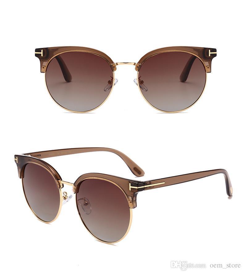 fda9814497 Compre Nuevas Gafas De Sol Redondas Polarizadas Para Mujer Del Diseñador De  La Marca Club Redondo Vidrios Vidrios De Sun Clásicos Que Conducen Las Gafas  ...