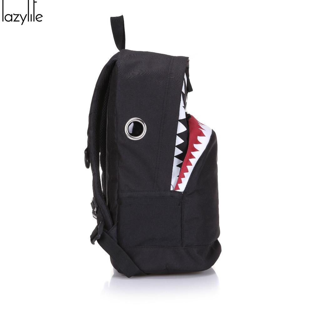 Lazylife Cute Backpack For Teenage Girls School Backpack Big Shark