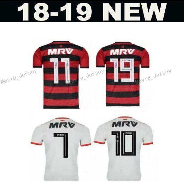 e70c43d9eb Compre Clube De Regatas Do Flamengo 11 Lucas Paquetá Jersey Men Soccer 10  Diego Ribas Camisa De Futebol Kit Uniforme Casa Vermelho Fora Branco De ...