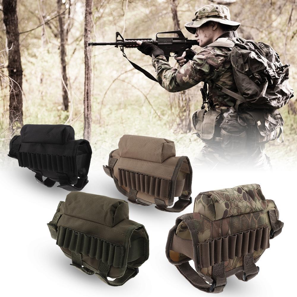 Großhandel Tactical Buttstock Shotgun Rifle Stock Ammo Pouch Bullet