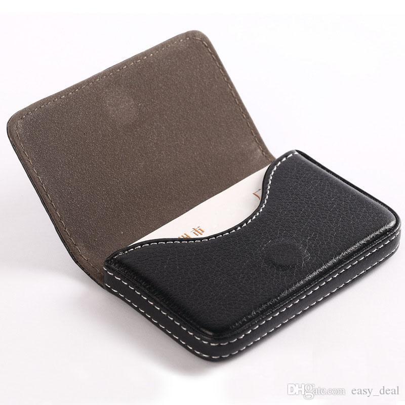 2018 Fashion Men Business Card Holder Casual Pu Wallet Coin Purse ...