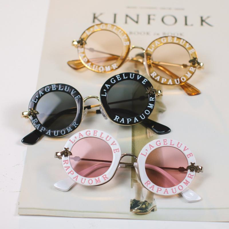 121ddc7f9e Compre Niños Gafas De Sol Niños Niñas Carta De Moda Transparente Marco  Redondo Niños Gafas De Sol Ins Verano Gafas De Sol De Protección Uv T71 A  $3.46 Del ...