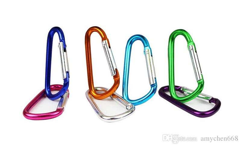 Colorful D Type Carabiner Durable Climbing Hook Aluminum Keychain Camping Accessory Fit Outdoor Sport Top Quality many size to choose
