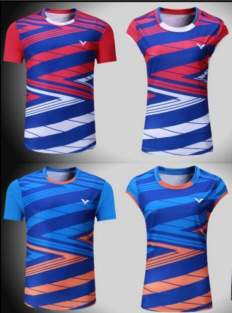 2018 New victor badminton shirts short-sleeved South Korean national team game jerseys men and women training sportswear,tennis t-shirt 1106