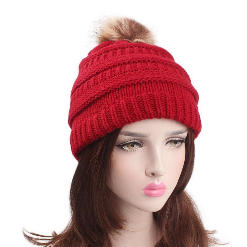 Autumn Wool Ball Knit Ladies Winter Hat Ski Hat Sports Warm Cap Czapka  Zimowa Beanie 2018 Fashion Solid Color Wool Stetson Hats Trilby From  Clintcapela 83305dd53b5