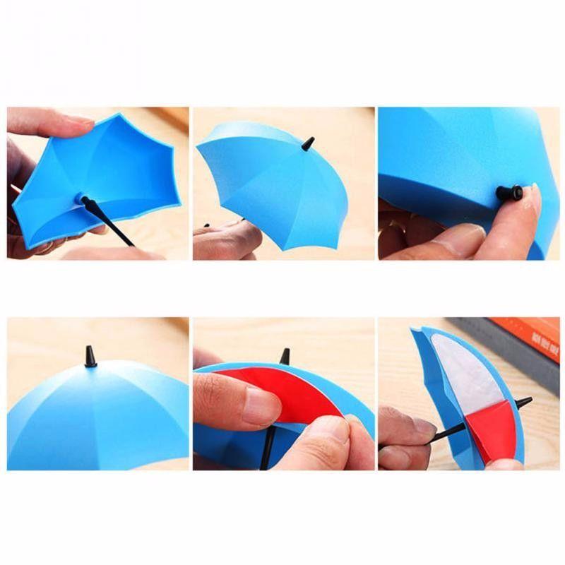 Yeni Sıcak bir set 5 adet / grup Renkli Şemsiye Duvar Kanca Anahtar Saç Pin Tutucu Organizatör Dekoratif Raf