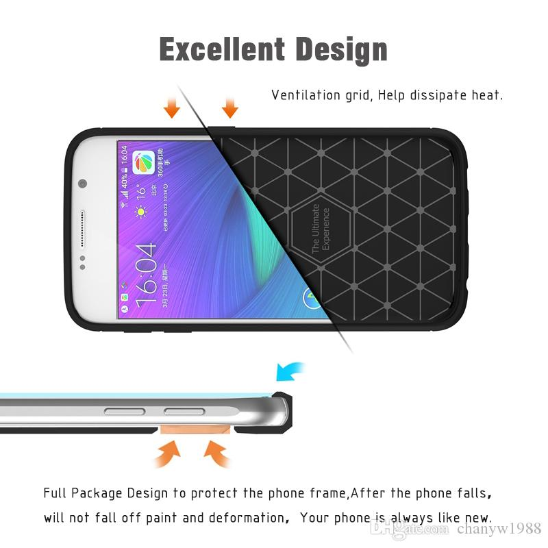 Phone Case For Samsung Galaxy S8 Plus Environmental Carbon Fiber Soft TPU Anti-Skid Cover For Samsung S8 Plus S8Plus Skin Bag