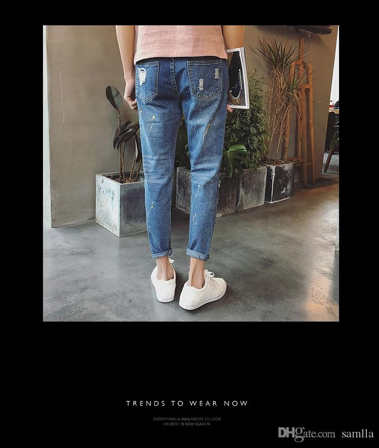 New Famous Brand Ripped Jeans For Men High Quality Male Denim Jumpsuit Oversized Denim Overalls Men Fashion Male Jeans
