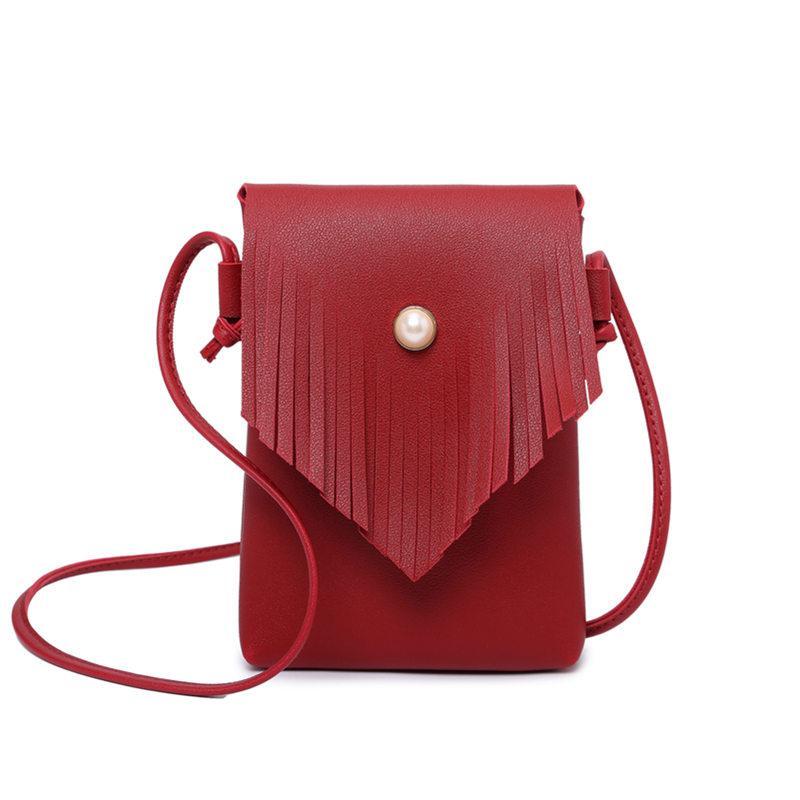 Fashion 2018 Small Hand Bag Women Candy Color Tassel Messenger Bags Female  Handbag Shoulder Bag Flap Women Bolsa Feminina Wholesale Purses Designer  Handbags ... ac2db887548f0