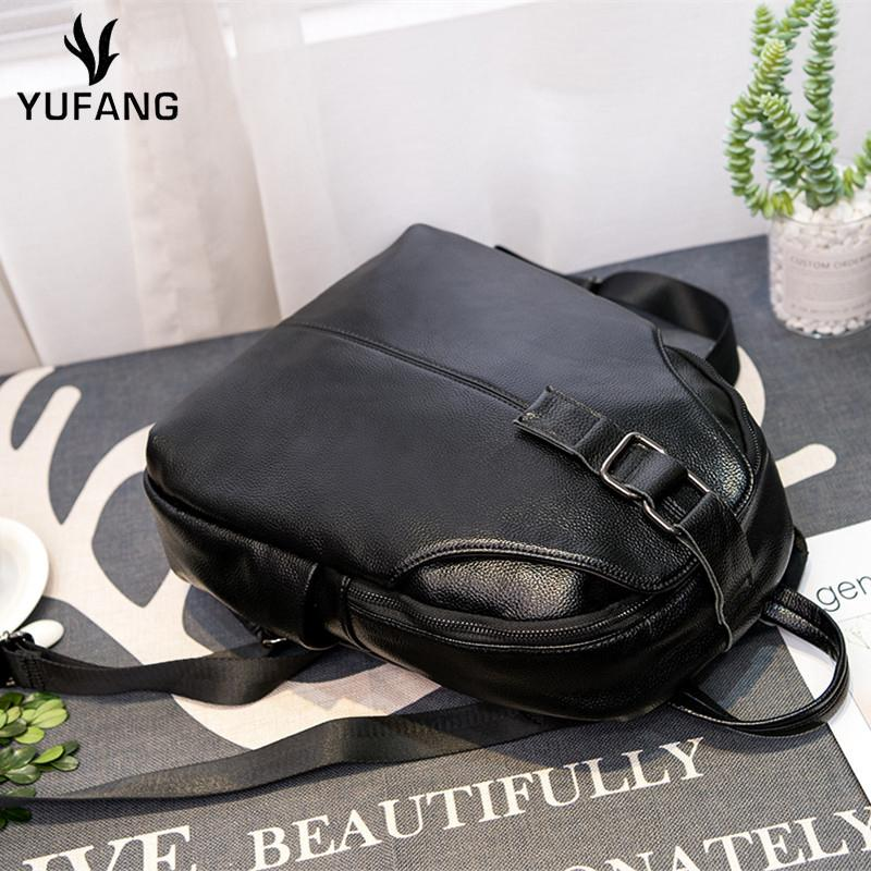 74fd665b9835 YUFANG Women Backpack Fashion Casual Bag Genuine Leather Female Feminine  Backpack For Teenage Girls School Bag Solid Travel School Backpacks Cool  Backpacks ...