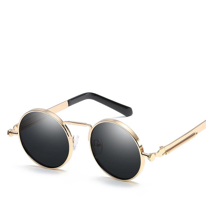 7e3d5cedd Vintage Round Steampunk Sunglasses Women Men Fashion Retro Round Metal Steam  Punk Sunglasses Men Gold Black Goggles UV400 Baby Sunglasses Designer ...