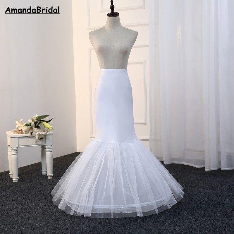 Amandabridal Toptan Mermaid Petticoat 1 Hoop Kemik Elastik Gelinlik Kabarık Etek 2018 Gelin Petticoat Mermaid Ucuz