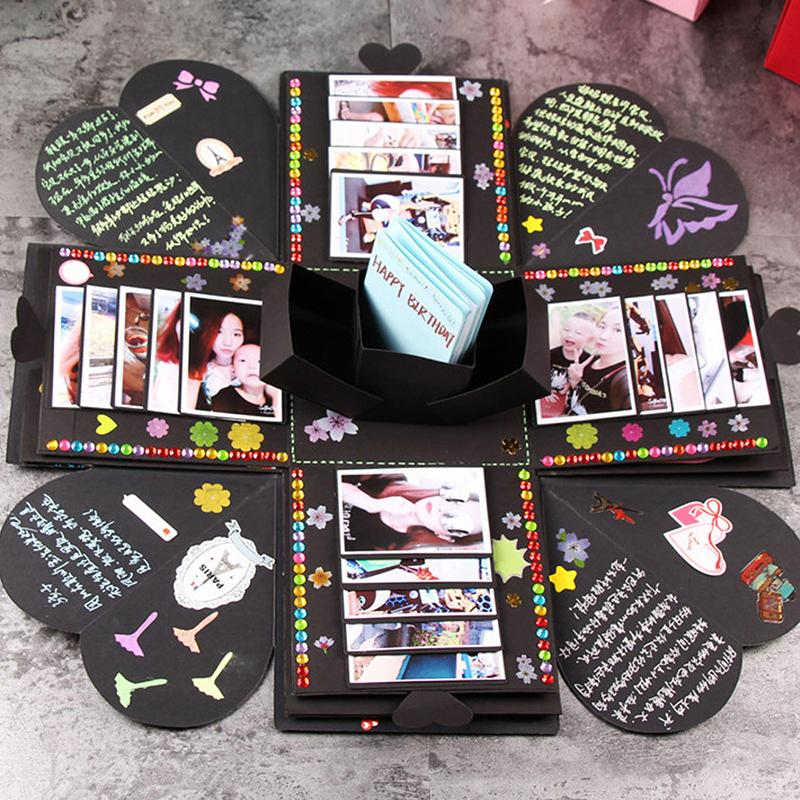 Creative DIY Explosion Box Paper Colorful Photo Album