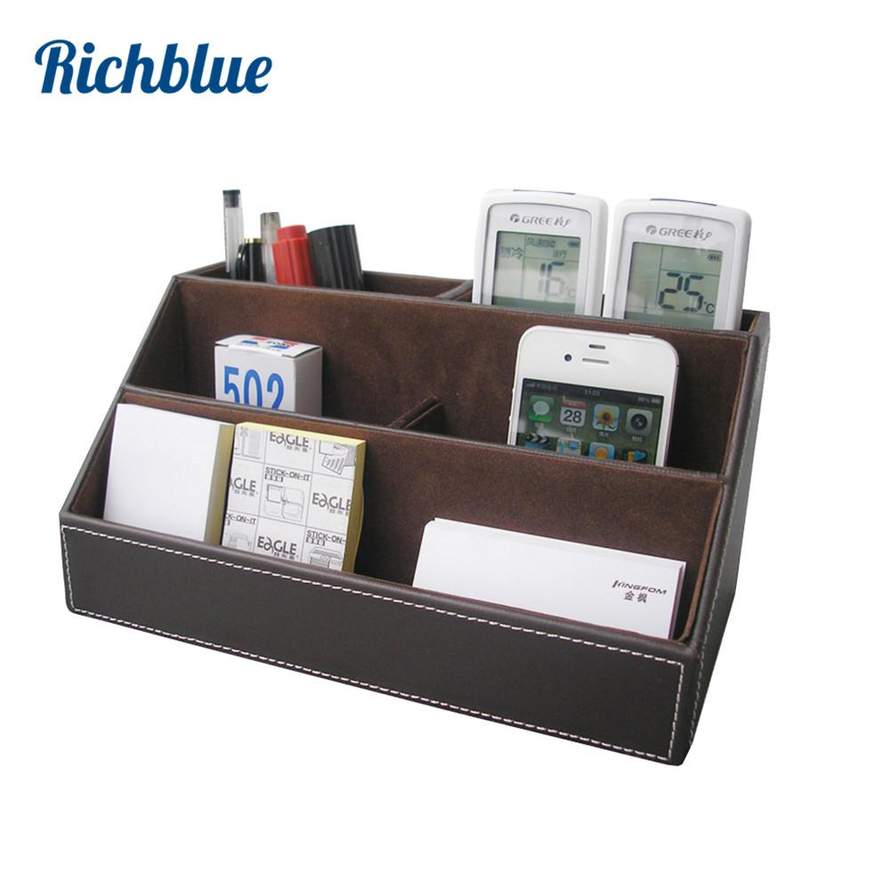 2018 Whole Pu Leather Desktop Organizer Stationery Storage Box Pen Pencils Holder Remote Control Case Container From Douglass 45 03 Dhgate Com