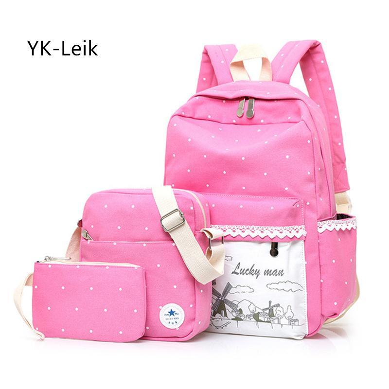 2a5372d60b YK Leik 2017 Canvas School Bags College Style Backpacks Large Capacity Backpack  School Bag For Girl Mochilas Escolares Infantis Jansport Backpacks School  ...
