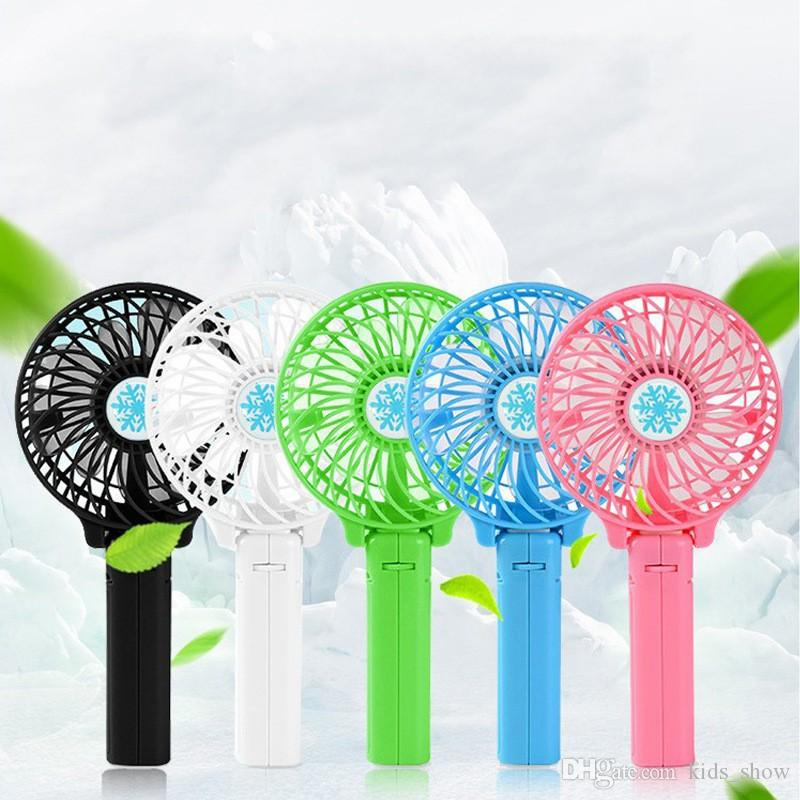 Portable Rechargeable Folding Fan USB Charging Cooler Removable Rotating Handheld Mini Outdoor Fans Pocket Folding Fan Free shipping NA16