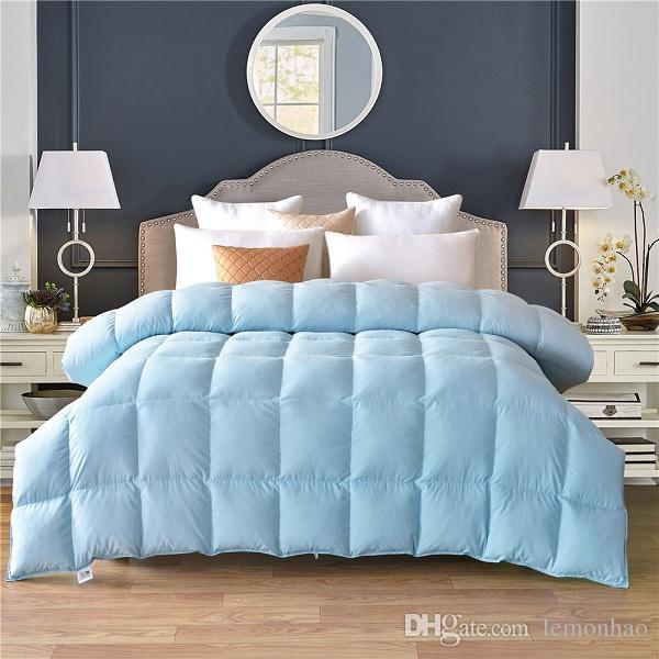 comforter full down goose quilt white king original pink measurements feather duvet size