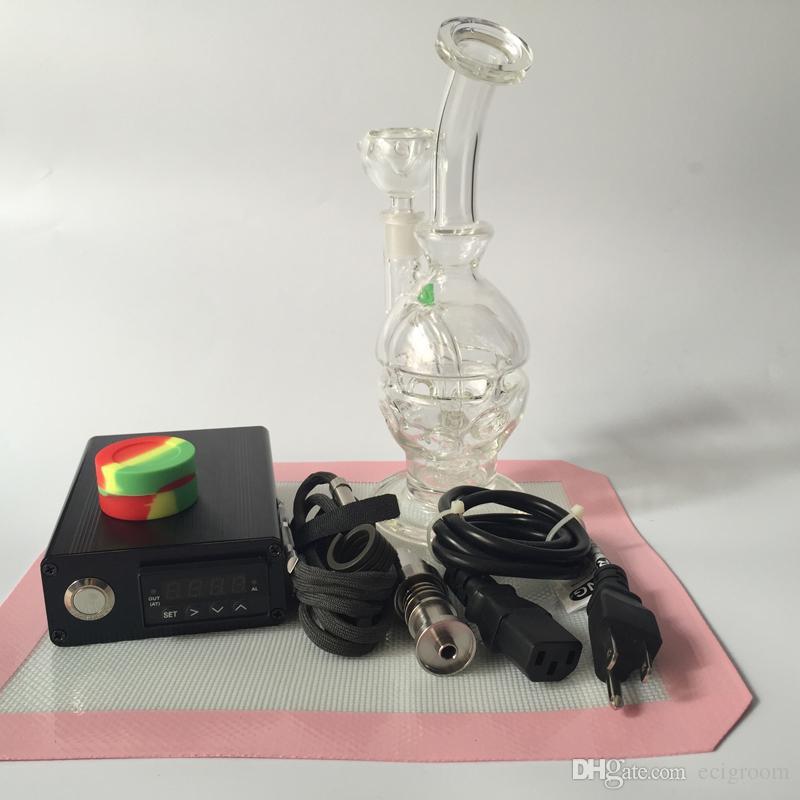 Kit DNail all'ingrosso ENail Kavlar Bobina PID TC D-Nail Dab rig con Bio Glass bong Percolatore a nido d'ape Bong Oil Rigs DHL Free