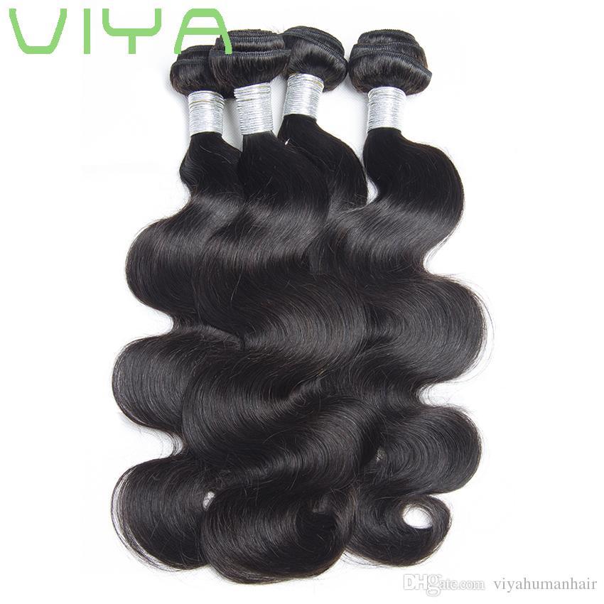 밍크 브라질 헤어 바디 웨이브 10A 처리되지 않은 버진 인간의 머리 씨실 도매 인간의 머리 확장 브라질 바디 웨이브 3 번들 / 많은.