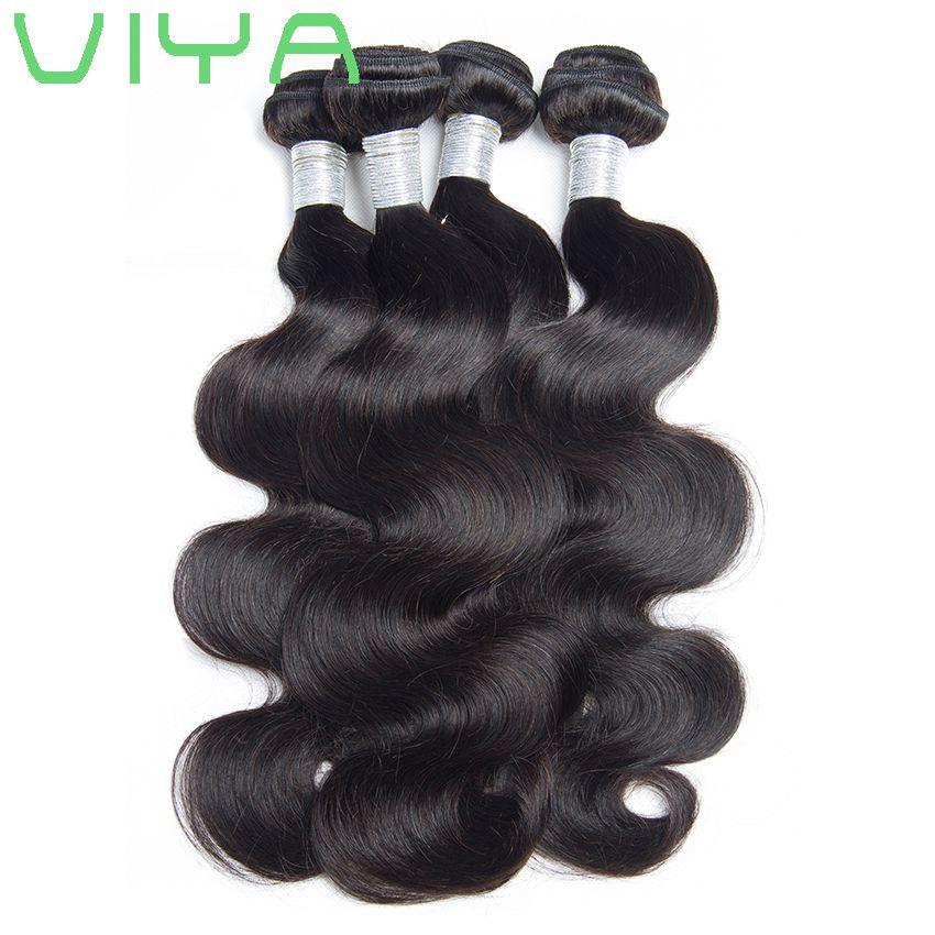 Vizon Brezilya Saç Vücut Dalga 10A İşlenmemiş Virgin İnsan Saç Atkı Toptan İnsan Saç Uzantıları Brezilyalı Vücut Dalga 3 Demetleri / .