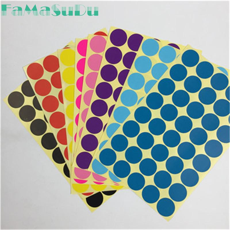 7b99e14eb87 200 Pcs 2.5 cm Circle Round Color Coded Label Dot Sticker Inventory Code  Tag 15 Color to chose 5 sheets