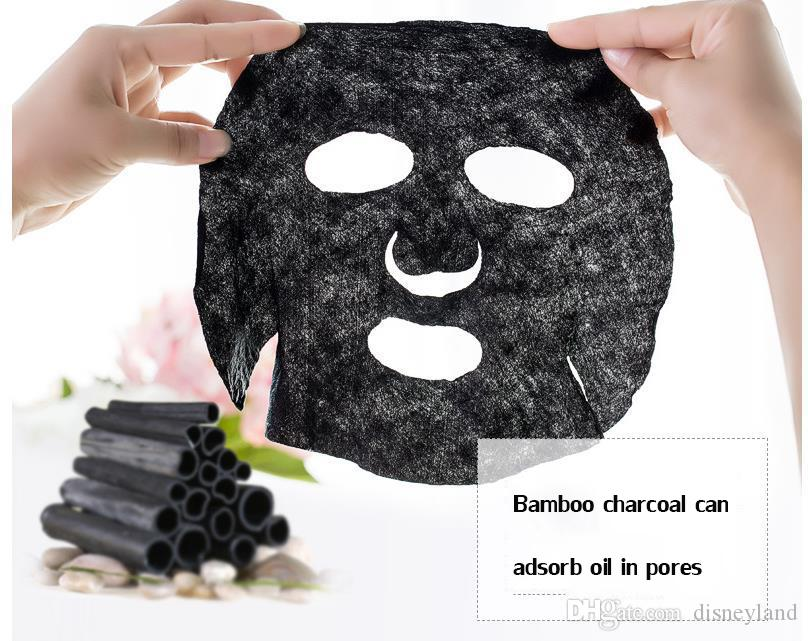 Origunal Bamboo charcoal Black Great Quality DIY Facial Paper Cotton Mask Skin Face Care Compressed Mask MT065