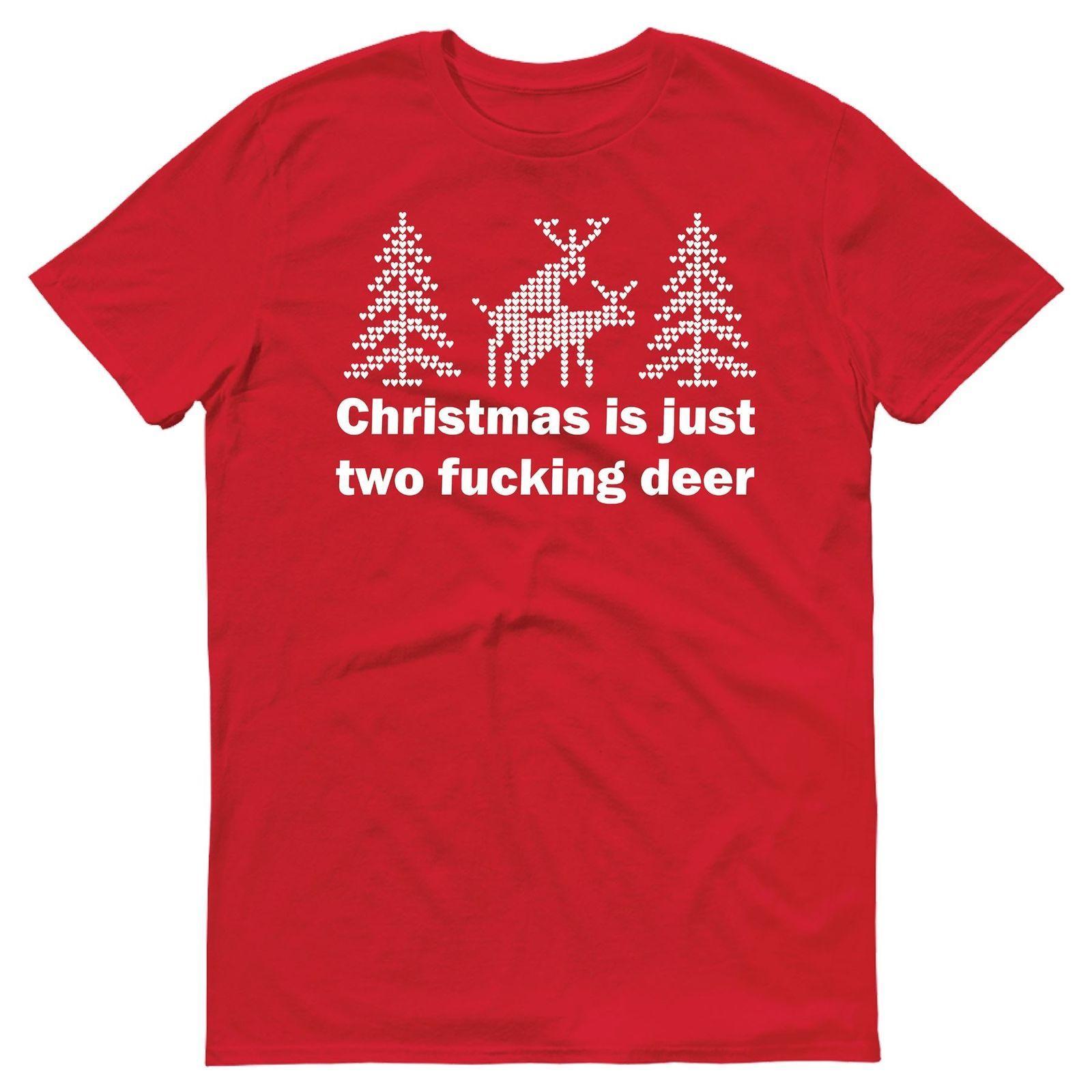 Großhandel Weihnachten Ist Gerade Zwei F * Cking Rotwild Lustiges ...