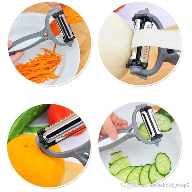 2018 Multifunctional 360 Degree Rotary Slicer Carrot Potato Peeler Vegetable Cutter Fruit Melon Planer Grater Kitchen Gadgets