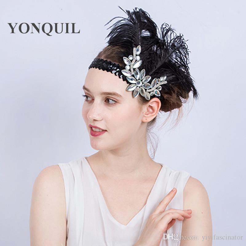 c704340380d National Indian Feather Headdress With Rhinestone Halloween Party Native  War Bonnet Hat Nice Red Ethnic Ostrich Feather Headwear SYF180 Ivory Hats  Ladies ...