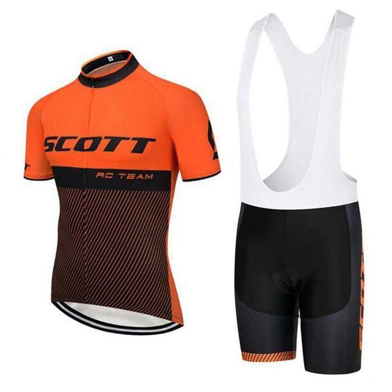 Scott Cycling Jersey Set Men Short Sleeve Shirt MTB Bike Clothing Ropa  Ciclismo Team Tour De France Quick Dry Maillot Ciclismo 82013Y Biking  Jerseys Road ... 38f16eef7