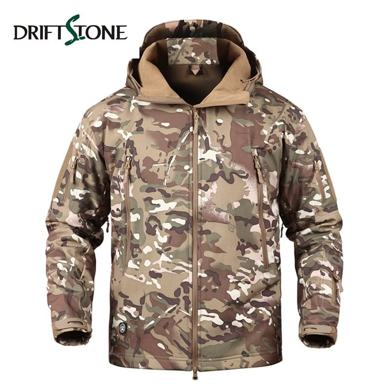 Tactical Jacket Men Camouflage Waterproof Windproof Winter Military Army  Softshell Jacket Warm Hoodie Mens Windbreaker Coat DS 6 D18101007 Oversized  Jacket ... a4e59747f8