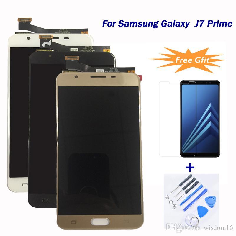cc1c8d24e Compre Para Samsung Galaxy J7 Prime   G610   G610f Lcd 100% Estritamente  Tesed Lcd Touch Screen Display Digitador Assembléia Melhor Qualidade Preço  De ...
