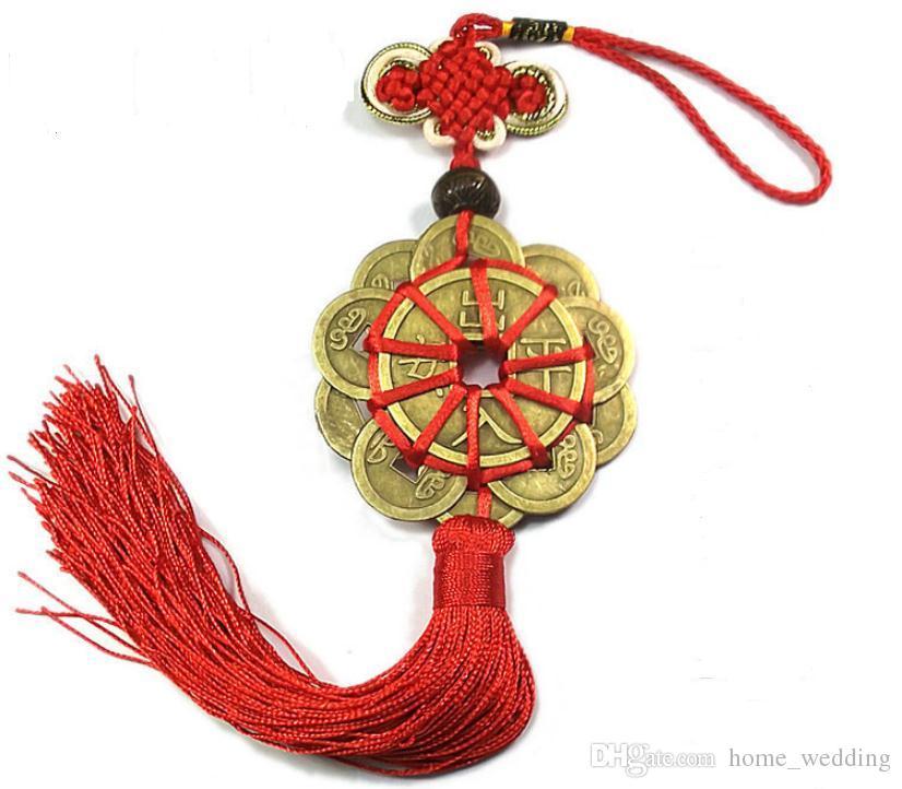 Großhandel 100 Stück Rot Chinesischen Knoten Feng Shui Set Von 10