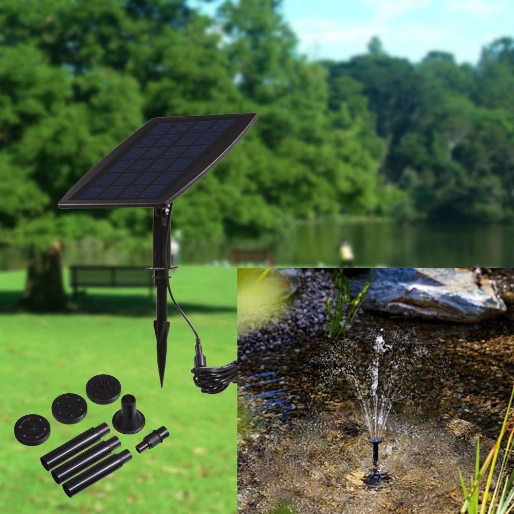 H16552 Panneau solaire paysage fontaine de jardin piscine fontaines  d\'énergie solaire enfichable fontaine décorative 9V 2.5W Paisaje Piscina  Fuentes ...