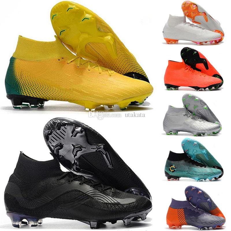 65c8dd41913 2019 2018 World Cup Mens Soccer Cleats Mercurial Superfly VI 360 Elite SG  AC Soccer Shoes Chaussures De Football Boots High Ankle Cheap From Utakata