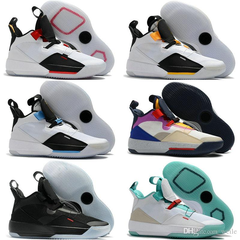 2019 New Brand Jumpman 33 XXXIII Future of Flight Blackout Mens Basketball Shoes  Men 33s Zapatillas Multicolors Black Yellow Sport Sneakers 33s Basketball  ... bc54c8b60