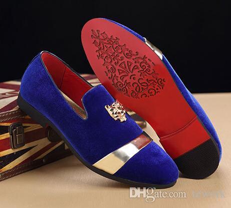 الجملة الذهب الأعلى والمعادن تو أحذية الرجال المخملية واللباس والاحذيه واللباس والاحذيه والاحذيه المصممه