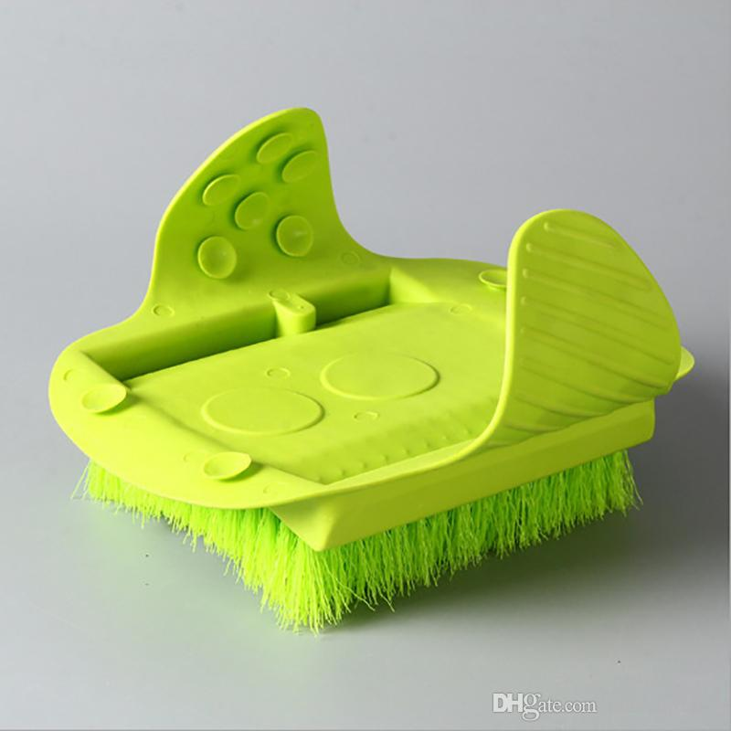 Feet Foot Bath Shower Brush Spa Washer Cleaner Scrubber Massager Foot Wear With Sucker Can Hang Free DHL 293